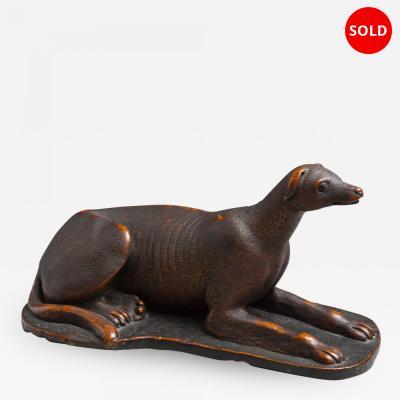 Fine Folk Art Carved Whippet Greyhound