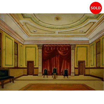 Original Art of Ornate Ballroom