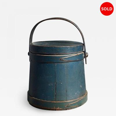 Firkin in original soldier blue paint mid 1800s