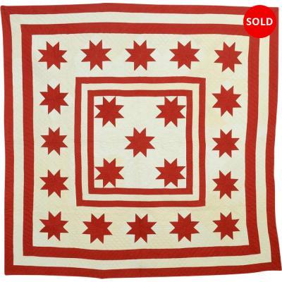 LeMoyne Stars Medallion Quilt Circa 1880
