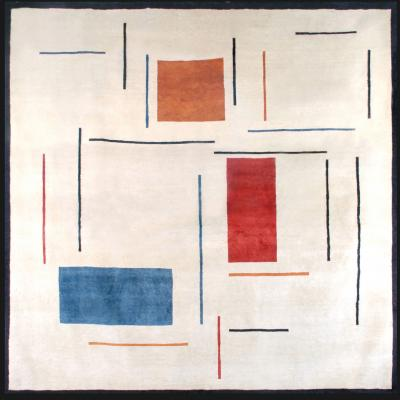 Genevie ve Claisse Boccara Limited Edition Handmade Artistic Wool Rug after Genevie ve Claisse
