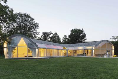 The Cocoon House, an architectural project in Southhampton, also designed by nea studio; it is Gold LEED-certified.<br>Photographer: Carolyn Hackwith