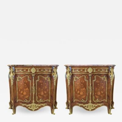 Fran ois Linke Exquisite Quality Louis XV Style Ormolu Mounted Marble Top Credenza