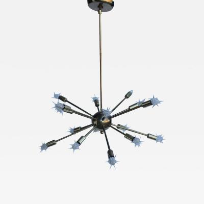 16 Light Brass Sputnik Chandelier