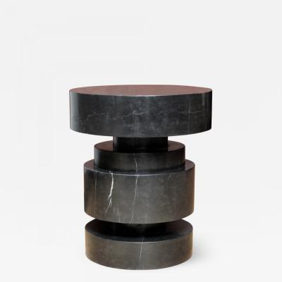 James Devlin Studio Mogador Solid Marble Side Table