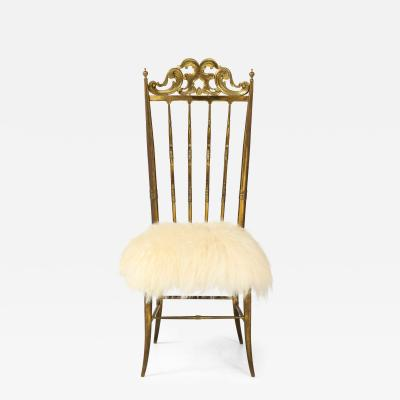 Chiavari Chiavari Brass Sheepskin Chair