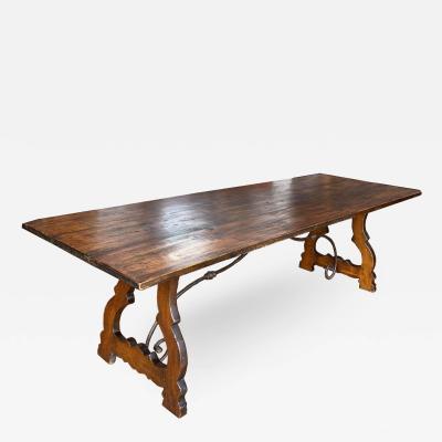 Italian Trestle Refectory Table Circa 1850