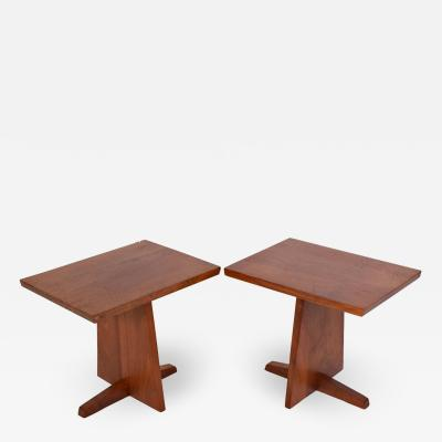 George Nakashima George Nakashima Pair Minguren side tables 1979
