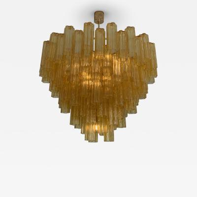 Venini Large amber Claridges chandelier in the style of Venini
