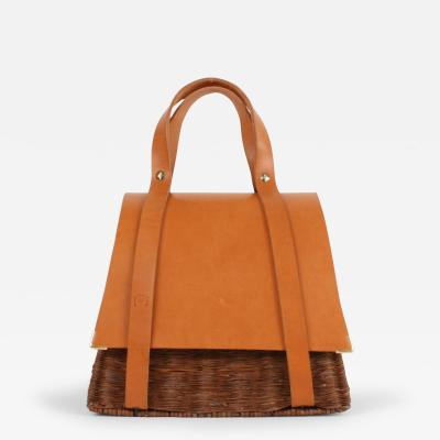 B n dicte Magnin Robert Bespoke Leather and Willow Bark Handbag Le Pr cieux