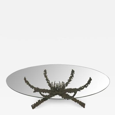 Daniel Gluck Brutalist Bronze Sculptural Coffee Table by Daniel Gluck