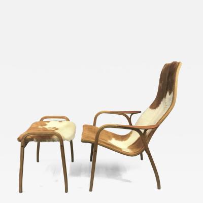 Yngve Ekstr m Yngve Ekstr m Cowhide Lamino Lounge Chair Ottaman Swedese