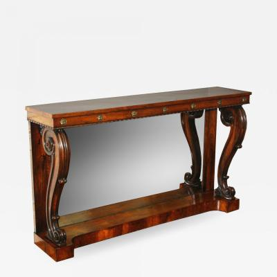 William IV Rosewood Console Table