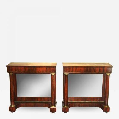 Pair of Late English Regency Pier Tables