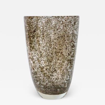Davide Dona Davide Dona Italian Pair of Modern Gold Grey Murano Glass Vases