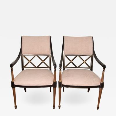 Dorothy Draper 20th Century Dorothy Draper Regency Style Armchairs pair