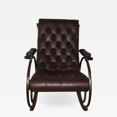 Woodard Furniture Mid Century Tubular Rocking Chair by Lee Woodard