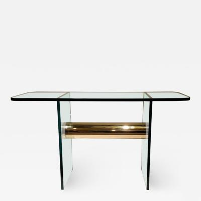 Pace Collection Pace Collection Brass and Glass Console