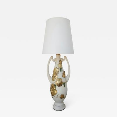Monumental and Rare Table Lamp with Greek Motif