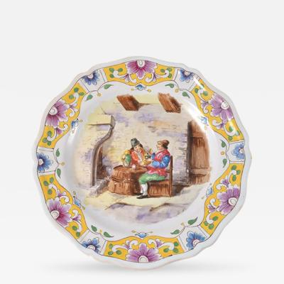 1767 Lille Faience Plate France