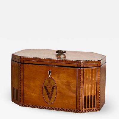 1790 English Satinwood Tea Caddy