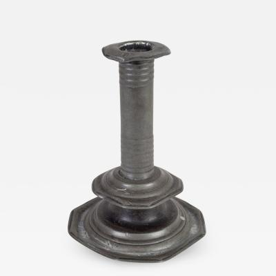 17th C English Pewter Candlestick