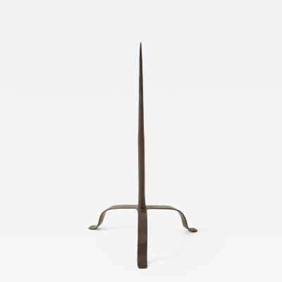 17th C Forged Iron Pricket Candlestick