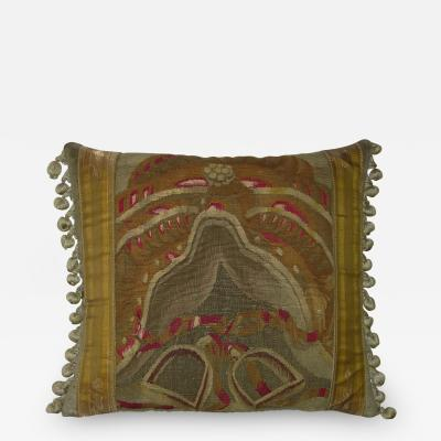 17th Century Antique Brussels Tapestry Pillow