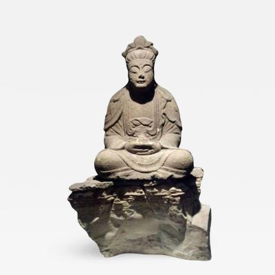 17th Century Carved Stone Buddha