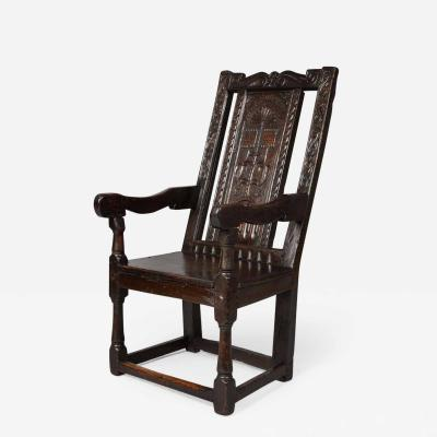 17th Century English or Welsh Wainscot Chair