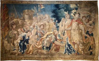 17th Century Flemish Tapestry Daris at Constantinople
