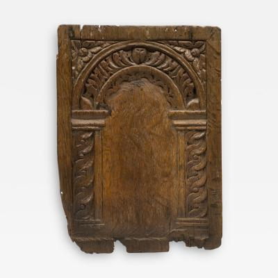 17th Century Oak Wall Panel Carving