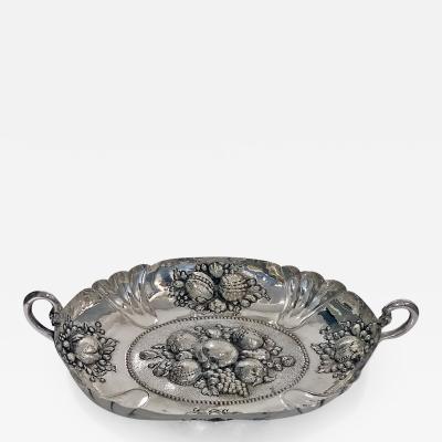 17th Century Style Silver Fruit Dish Germany Neresheimer C 1880