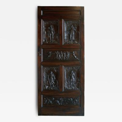 17th Century Walnut Panels Incorporated Into A Door