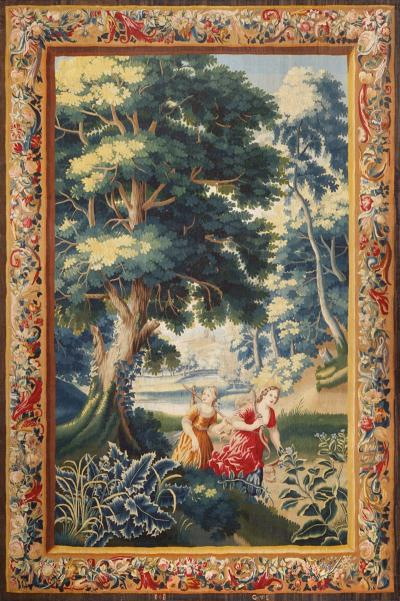 17th Century antique tapestry from Brussels Diana