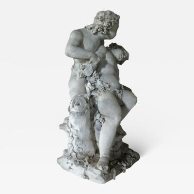 17th century Louis XIV Stone Sculpture of Playing Children