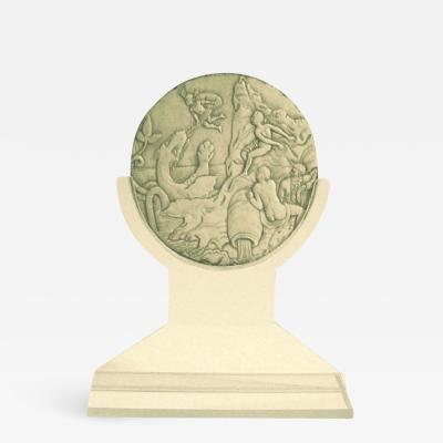 17th century carved Mythological Fragment