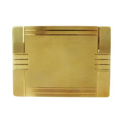 18 Carat Gold Art Deco Cigarette Case