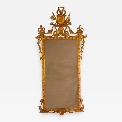 1810 Neoclassical Italian Giltwood Mirror