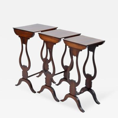 1850 s Georgian Mahogany Nesting Tables S 3 England