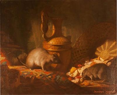 1878 Armand Manuel Le Diner Des Rats Oil Painting