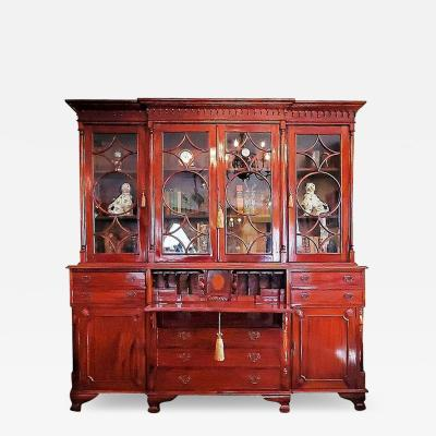 18C Irish Georgian Secretary Bookcase