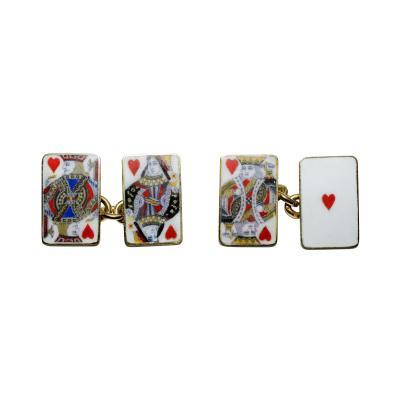 18K Gold Card Cufflinks