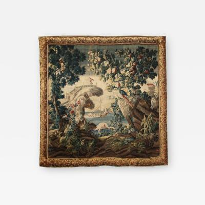18TH CENTURY AUBUSSON TAPESTRY AFTER J B PILLEMENT IN THE CHINOISERIE TASTE