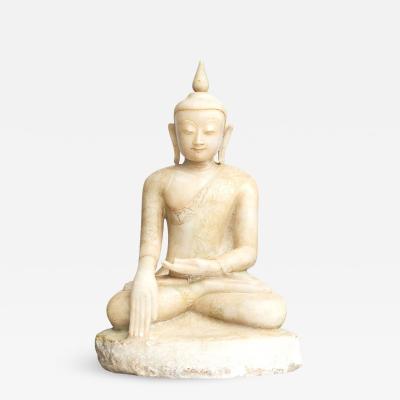 18TH CENTURY BURMESE ALABASTER BUDDHA