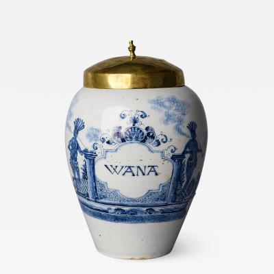 18TH CENTURY DUTCH TOBACCO JAR