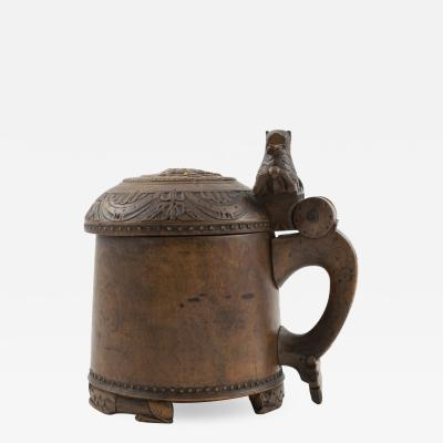 18TH CENTURY NORWEGIAN BAROQUE TANKARD