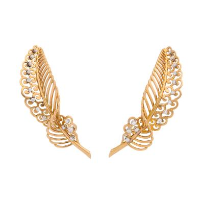 18k Gold Diamond Earrings