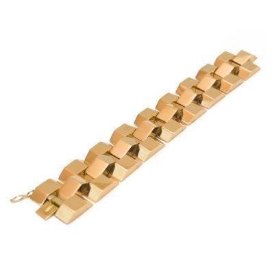 18k Gold Industrial Bracelet