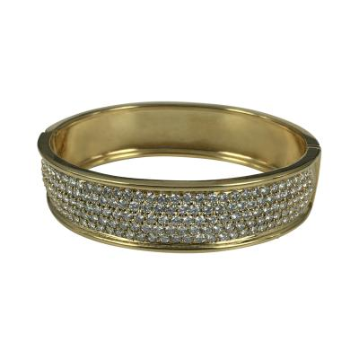 18k Gold and Diamond Bangle Bracelet